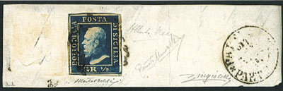 Francobolli Italiani Rari Sicilia 1859