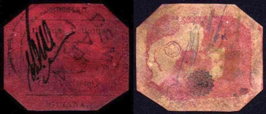 francobolli rari del mondo One Cent Black Magenta 1856