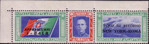francobolli rari italiani-Trittici-della-Crociera-Nord-Atlantica