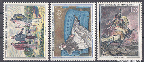 Francobolli rari francesi - Coubert Manet Gericault