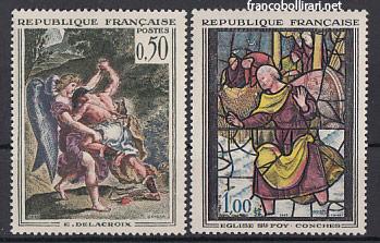 Francobolli rari francesi - Delacroix Vetrata