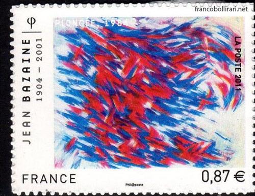 francobolli francesi rari - Jean Bazaine
