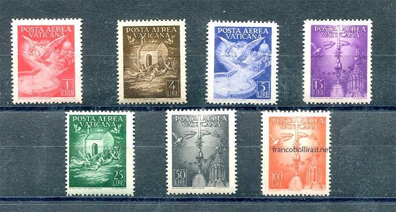 Francobollo Posta aerea Vaticana 1947