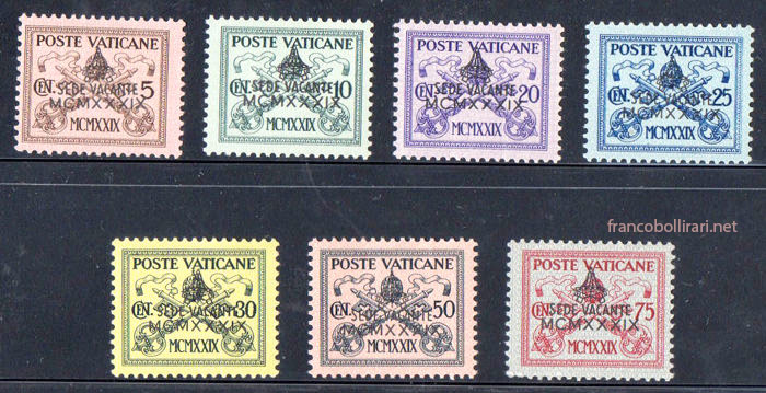 Francobollo Vaticano Sede Vacante 1939