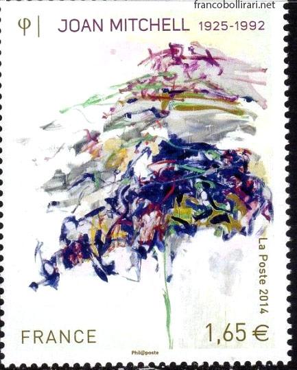 Francobollo raro francese - Joan Mitchell