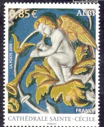 francobolli francesi rari - Cattedrale Sainte Cecilie Dipinto