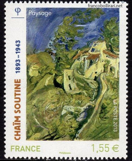 Francobollo raro francese - Chaim Soutine Panorama
