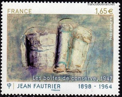 Francobollo raro francese - Jean Fautrier