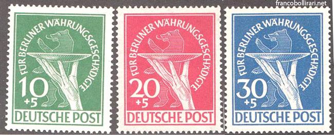 francobolli rari germania A profitto delle vittime della riforma monetaria