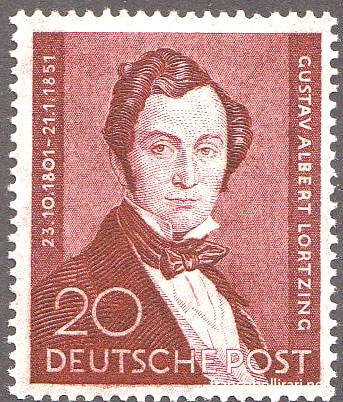 francobollo raro germania Lortzing
