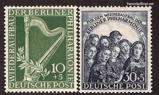 francobollo raro germania Ricostruzione dell'orchestra filarmonica di Berlino