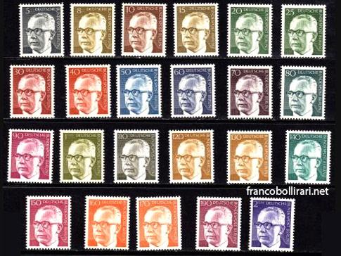 francobolli rari germania Gustav Heinemann