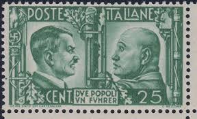 francobollo raro Due popoli un führer Imitazione di Guerra